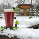 The Touch is a blueberry mint Smoothie IPA, pictured with it's mascot Frothy the blueberry snowman.
